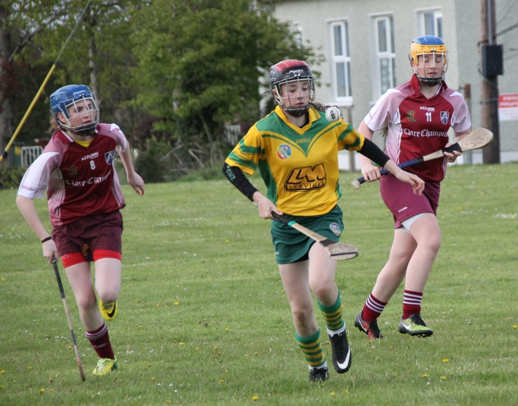 Action from the Div 2 Feile semi finals