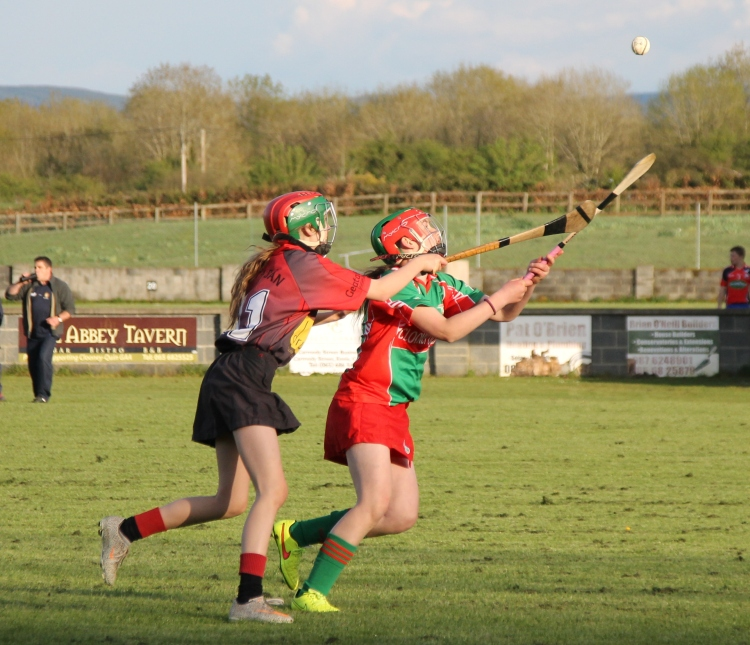 Action from the Div 4 Feile Final between Clooney Quin and Whitegate