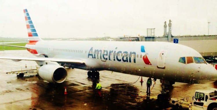 American Airlines flight at Shannon Airport. Image via Shannon Airport Twitter (@shannonairport)