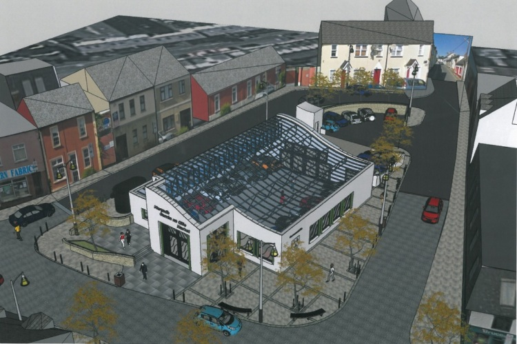 Artist's impression of Phase One of Ennis Market Regeneration Project