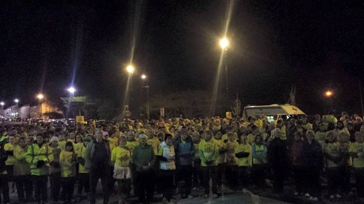 Kilrush's participants at the starting line. Picture Credit: DIL Kilrush Facebook Page