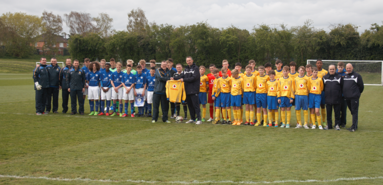 Clare and Leicester City pictured before kick-off.