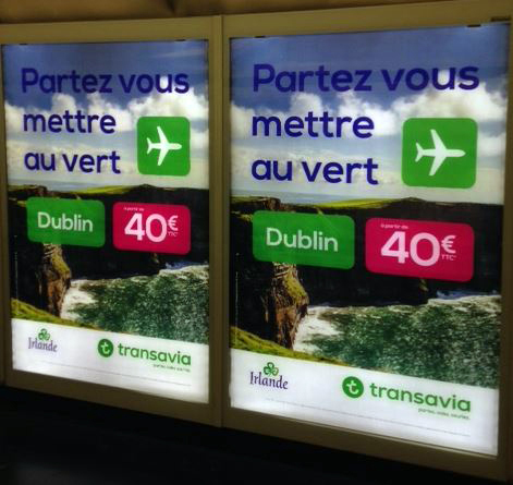OH LÀ LÀ! IRELAND TAKES TO THE PARIS METRO – TARGETING MILLI