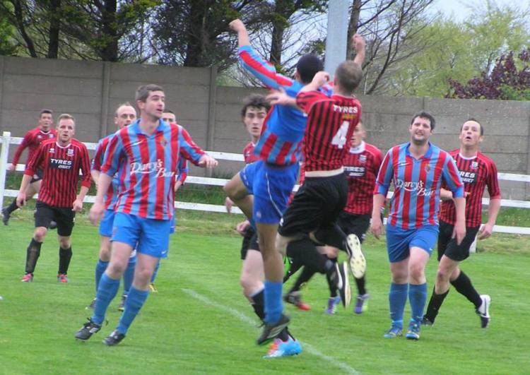 Action from this evening's Clare Cup semi-final. Picture Credit: Oliver Fitzpatrick