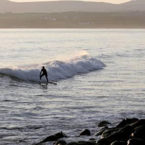 Surfing at Lahinch. Pic Anna Shorten